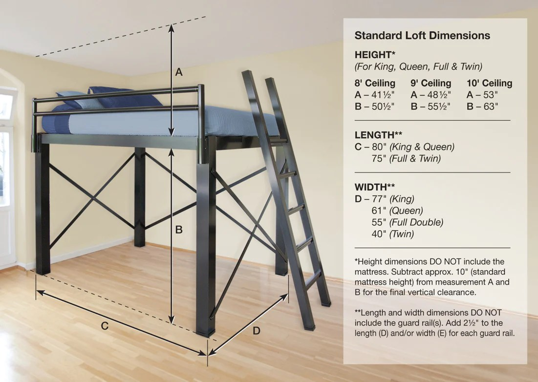 Bunk Bed Dimensions Loft Bed For Adults Francis Lofts And Bunks