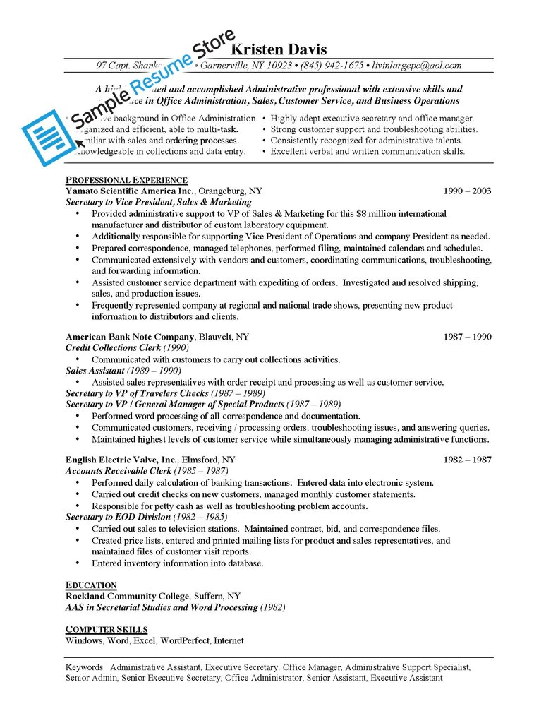 Resume Store Manager Job Description | Resume Objective General