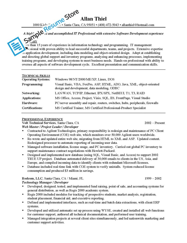 mis manager resume sample sample resume service mis manager resume sample resume samples our collection of resume examples management information systems manager