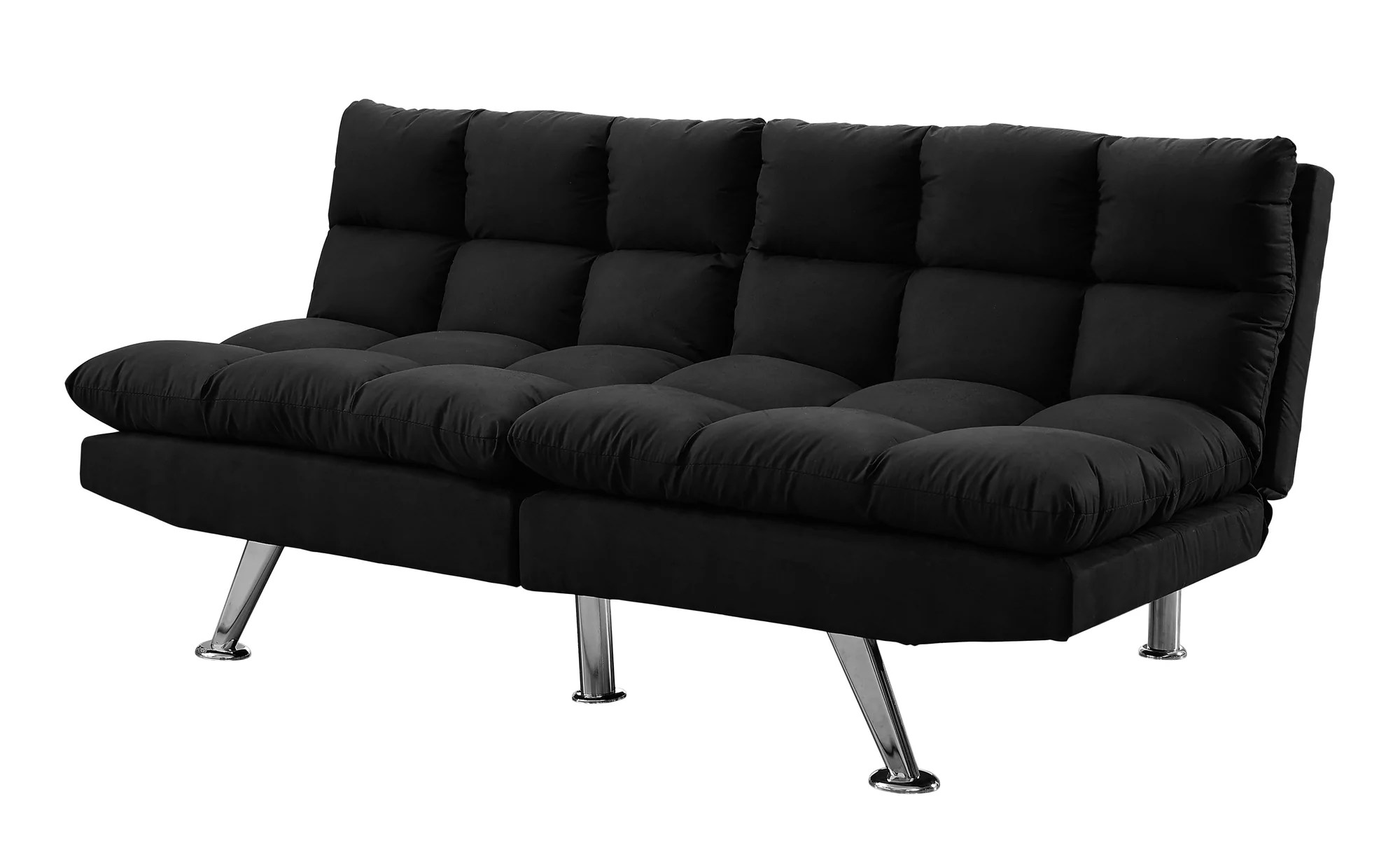 Futon Convertible 1 Place Buy Monarch Specialties I 8990 Futon Split Back Convertible Sofa Black Micro Suede At Contemporary Furniture Warehouse