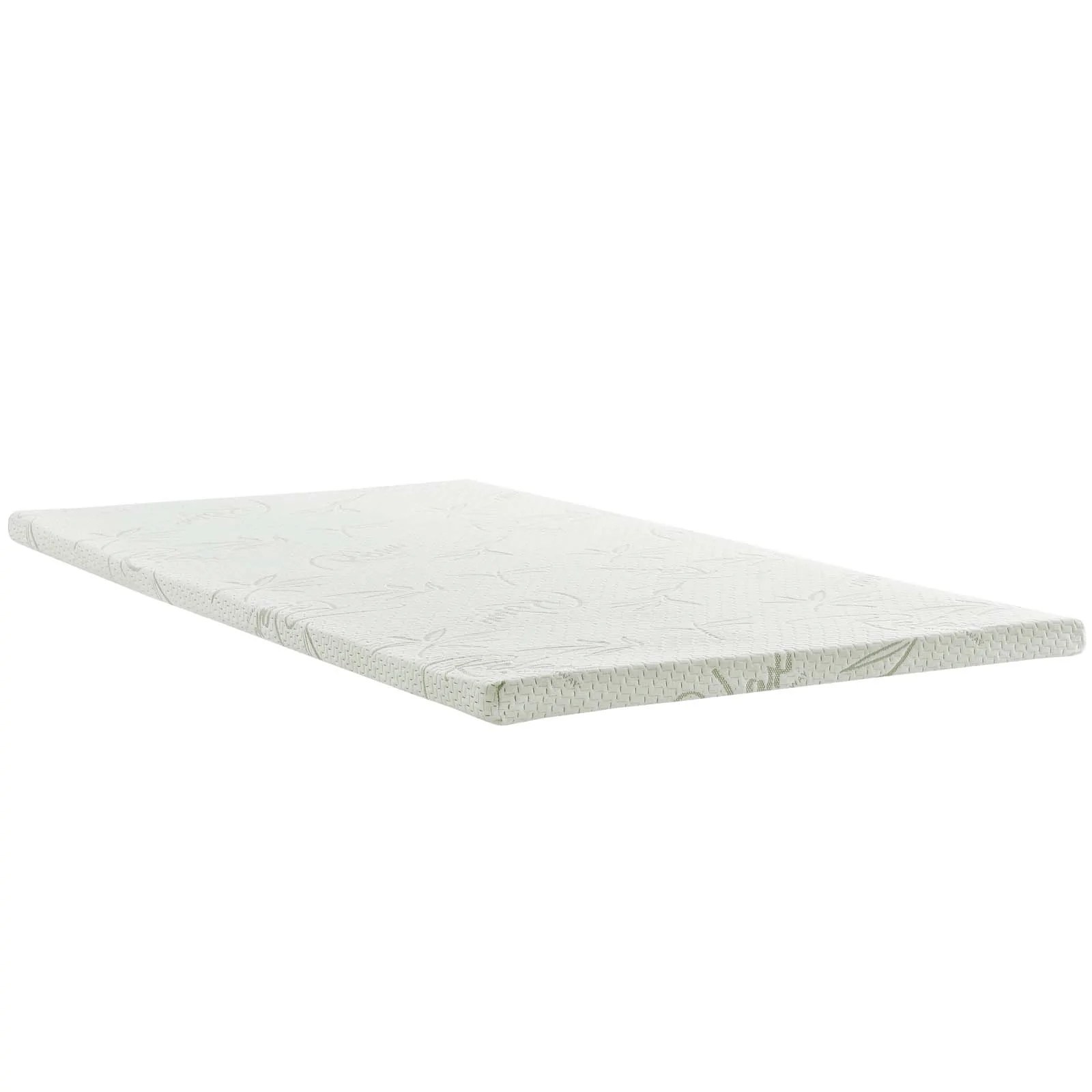 Memory Foam Mattress Toppers Modway Relax Twin 2