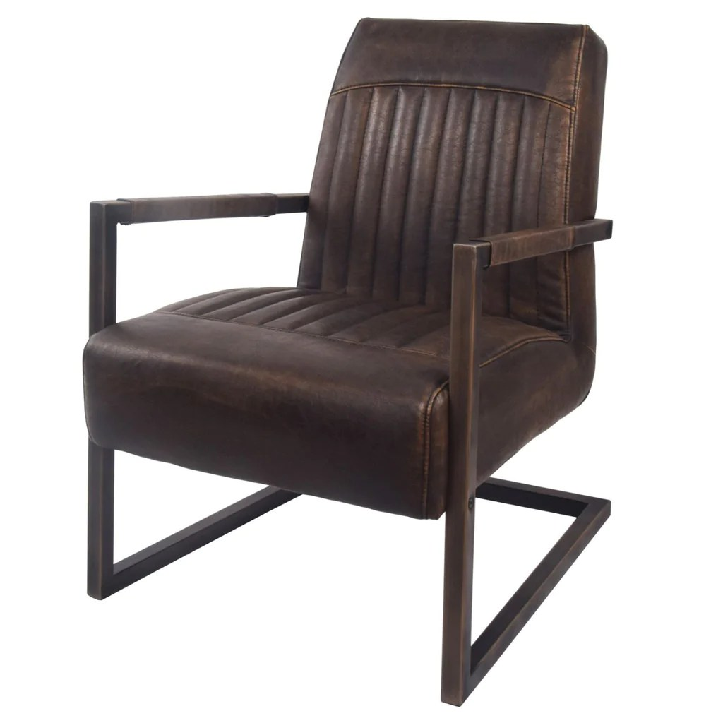 Arm Chairs Jonah Industrial Distressed Leather Arm Chair