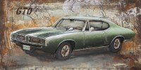 Muscle Car Wall Art Metal | Moes Home Collection FS-1010 ...
