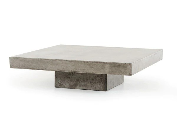 Vig Furniture Modrest Morley Modern Square Concrete Coffee