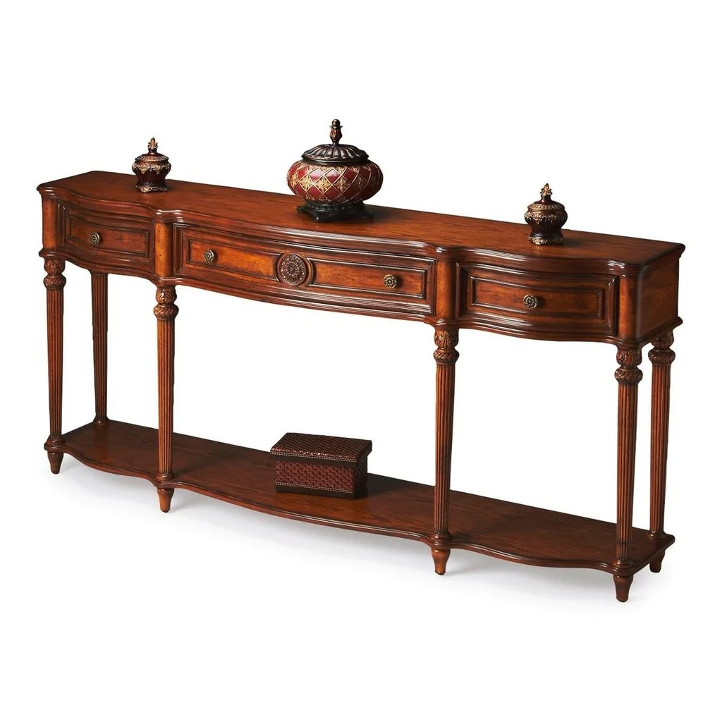 Console Table But Peyton Traditional Rectangular Console Table Medium Brown