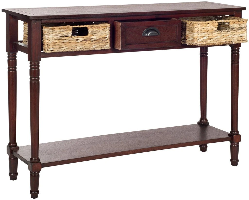 Vintage Hall Table Christa Console Table With Storage Cherry