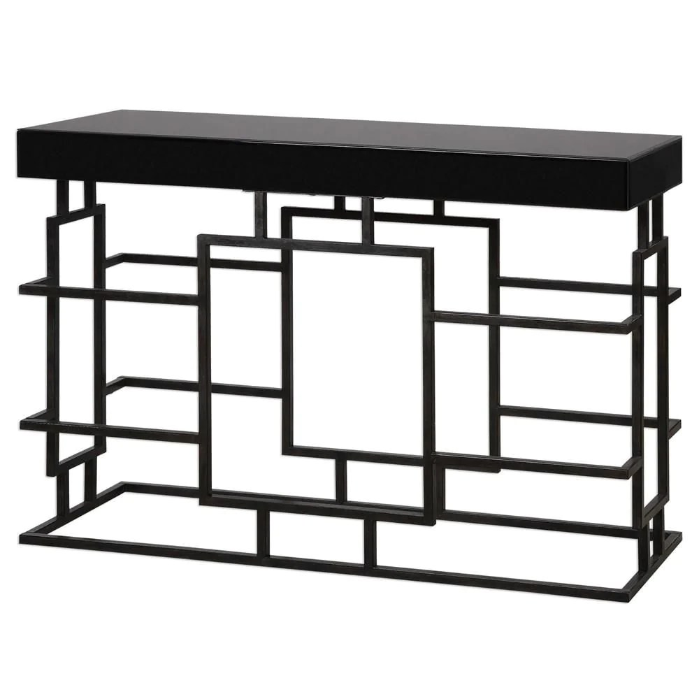 Warehouse Table Uttermost Andy Black Console Table At Contemporary Furniture Warehouse