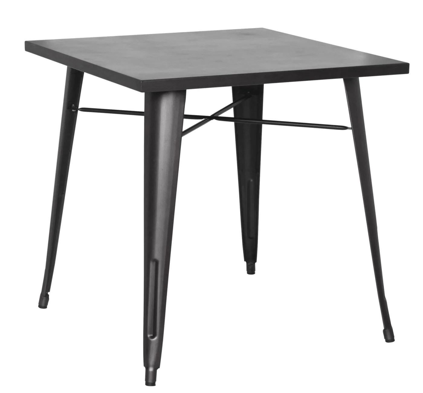 Metal Table Metropolis Metal Dining Table Gunmetal