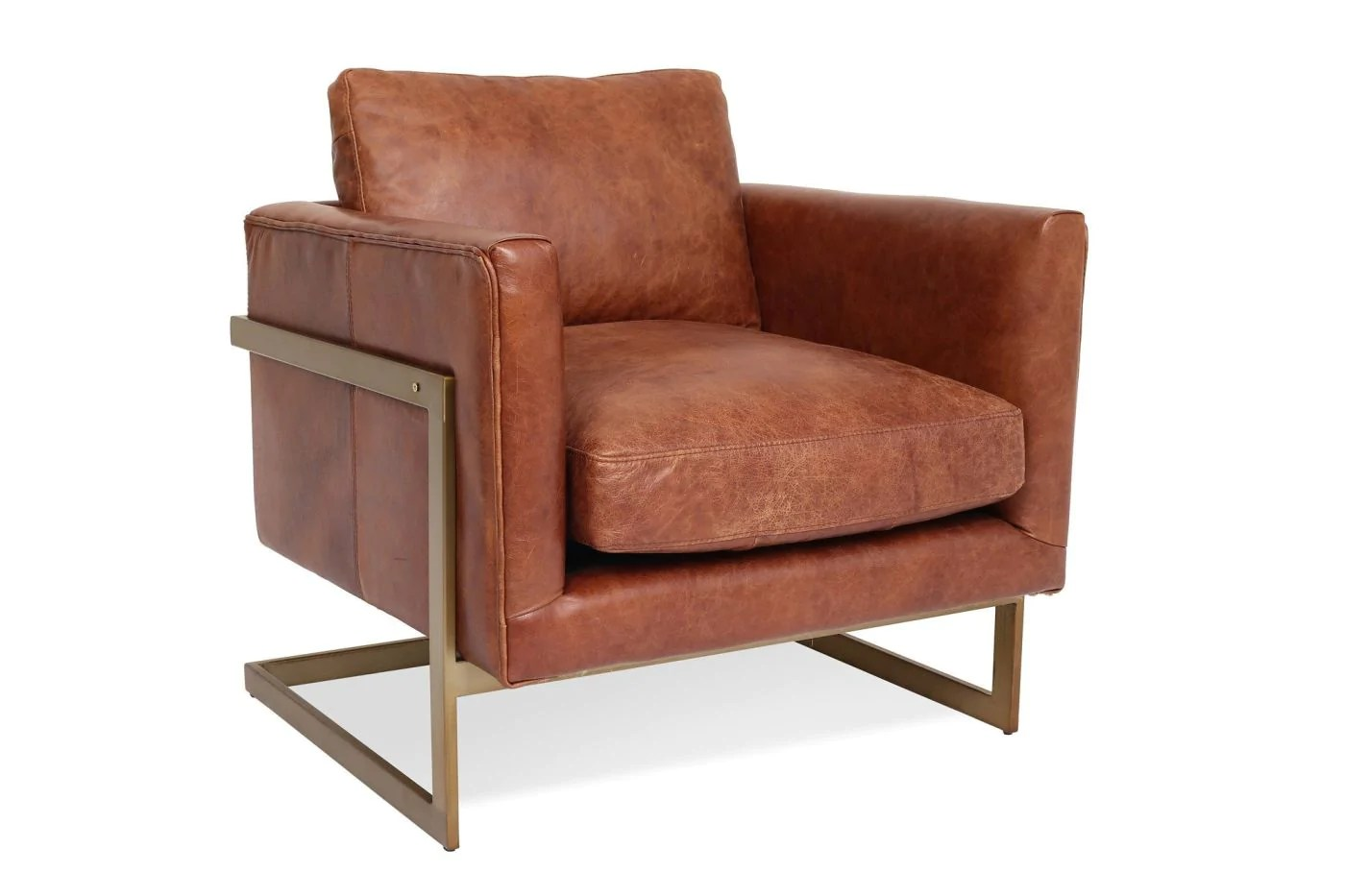 Leather Lounge Buy Edloe Finch Ef Z1 Lc004 London Leather Lounge Chair Cognac At Contemporary Furniture Warehouse