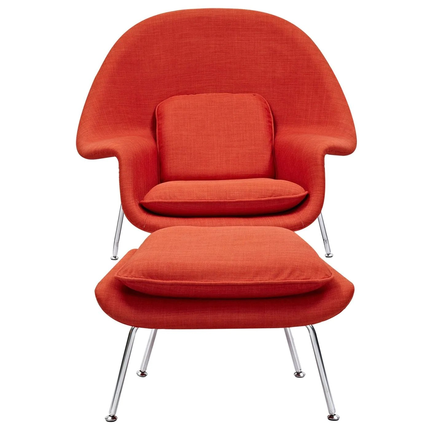 Chair Saarinen Buy Nye Koncept 225505 Eero Saarinen Style Womb Chair Avocado Green Lava Red At Contemporary Furniture Warehouse