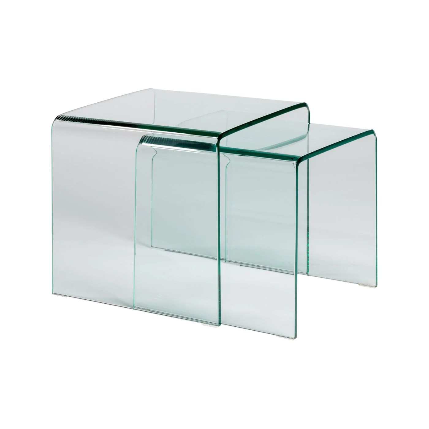 Glass Nesting Tables Buy Euro Style Euro 38732tg Gianna Nesting Tables In Clear Tempered Glass At Contemporary Furniture Warehouse