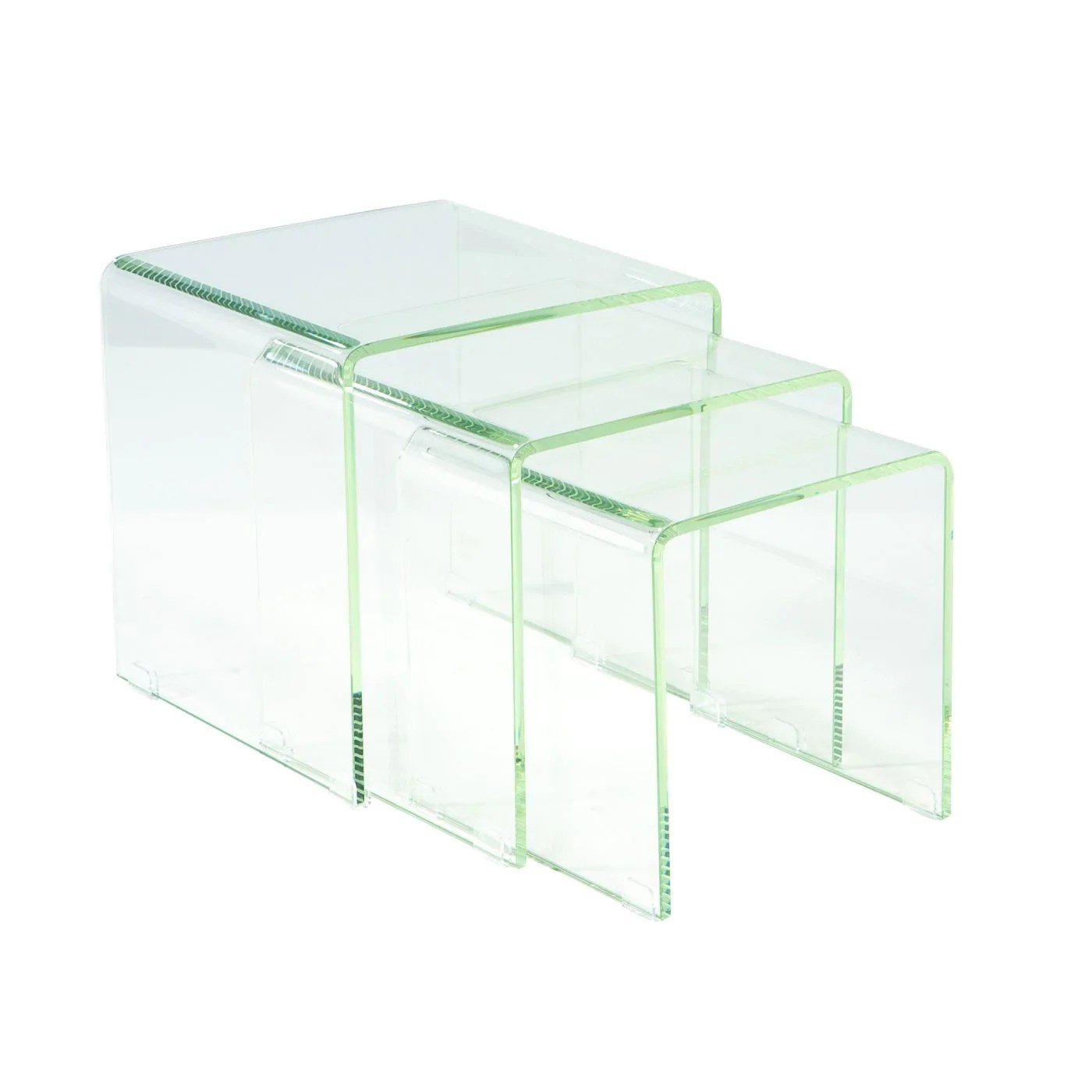 Glass Nesting Tables Moes Home Collection Covo Tables Set Of 3 Glass Glass Hi 1007 17 Only 515 00 At Contemporary Furniture Warehouse