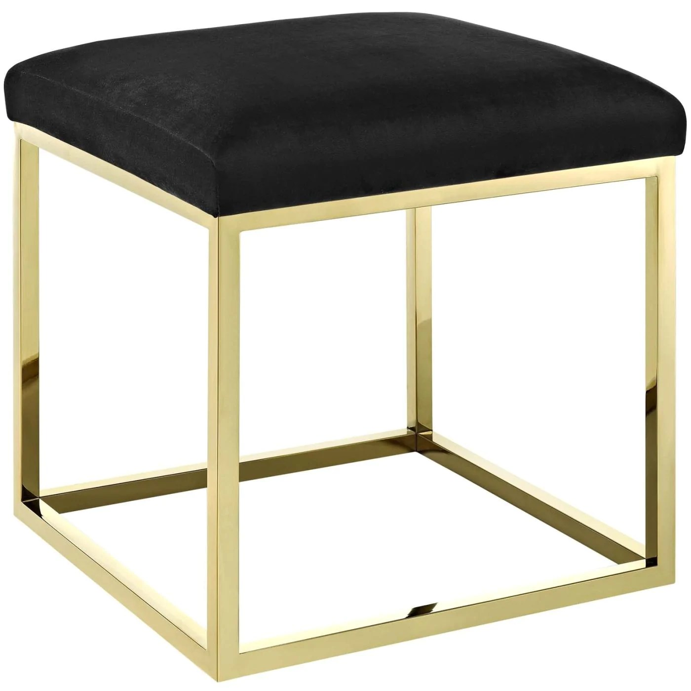 Ottoman Upholstery Modway Ottomans On Sale Eei 2849 Gld Blk Anticipate Velvet Upholstery Gold Stainless Steel Ottoman Only Only 181 00 At Contemporary Furniture