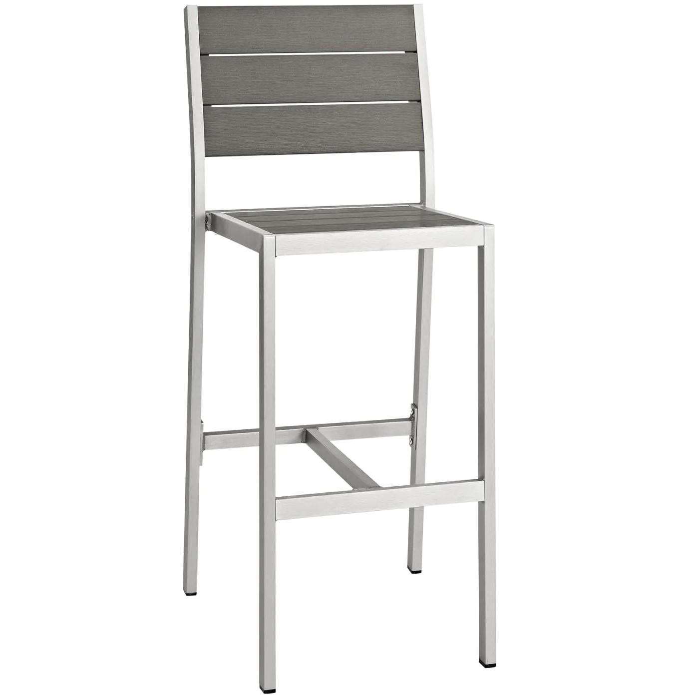 Bar Stools For Sale Modway Outdoor Bar Chairs On Sale Eei 2255 Slv Gry Shore Outdoor Patio Aluminum Armless Bar Stool Only Only 224 00 At Contemporary Furniture