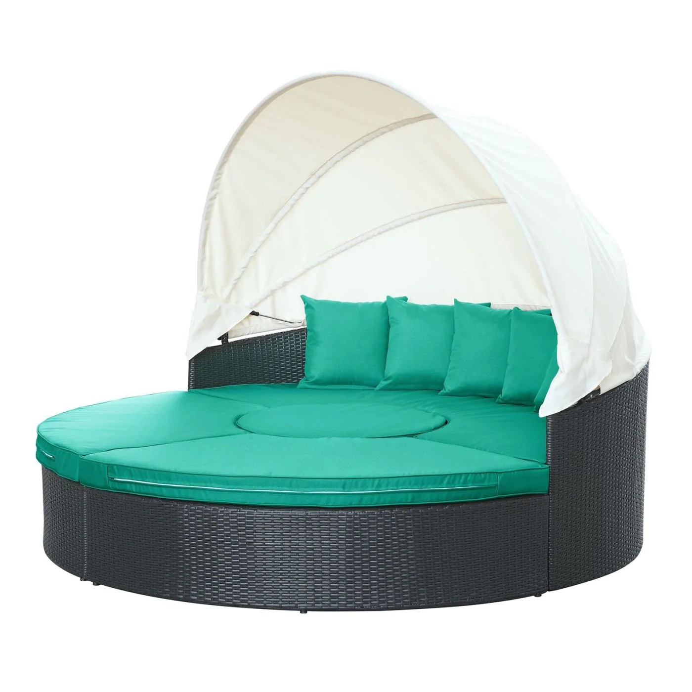 Modway Quest Canopy Outdoor Patio Daybed at Contemporary