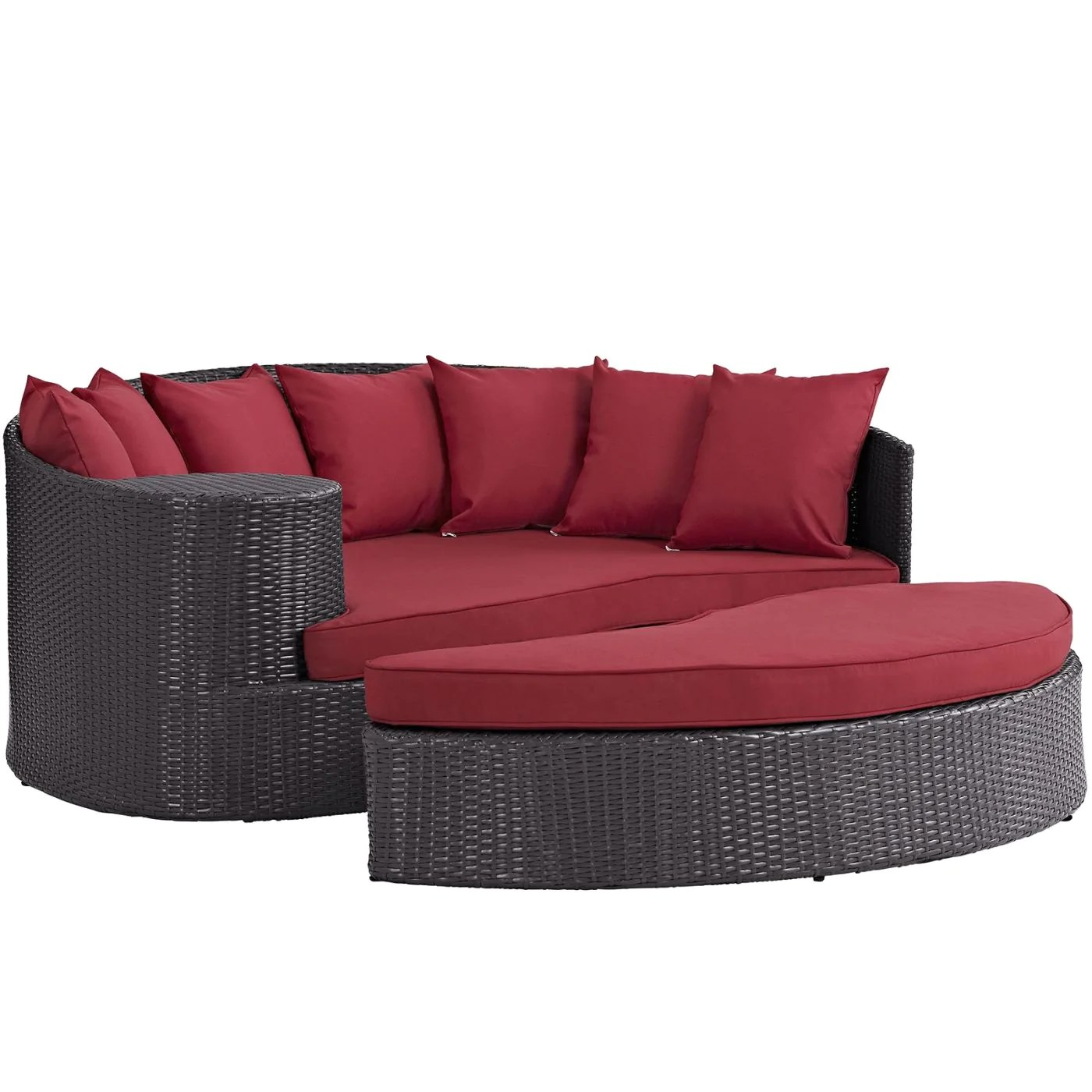 Outdoor Daybeds For Sale Modway Outdoor Daybeds On Sale Eei 645 Exp Red Taiji All