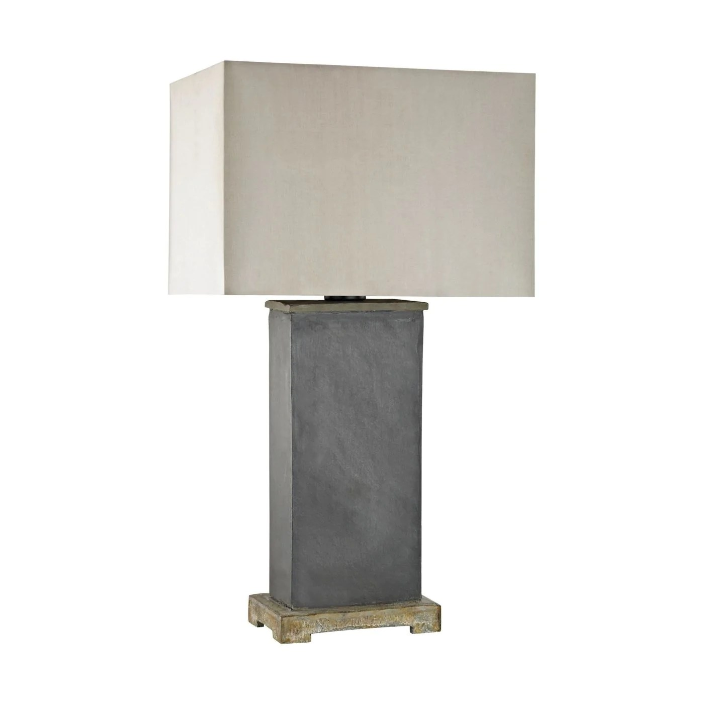 Outdoor Lamps Elliot Bay Outdoor Table Lamp Grey Slate