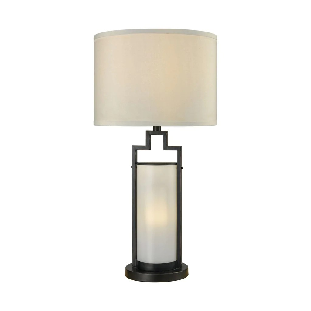 Outdoor Lamps San Rafael Outdoor Table Lamp Oil Rubbed Bronze Milk Glass