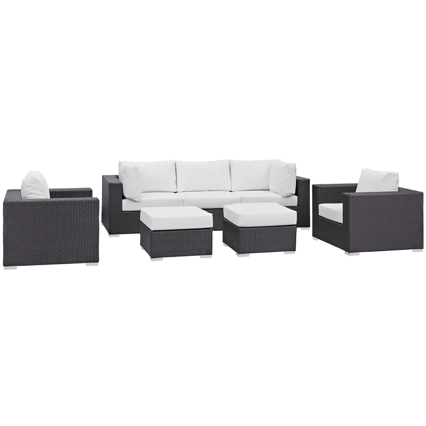 7 Piece Patio Set Modway Outdoor Patio Sets On Sale Eei 2200 Exp Whi Set Convene 7 Piece Rattan Outdoor Patio Sectional Set Only Only 2 342 25 At Contemporary
