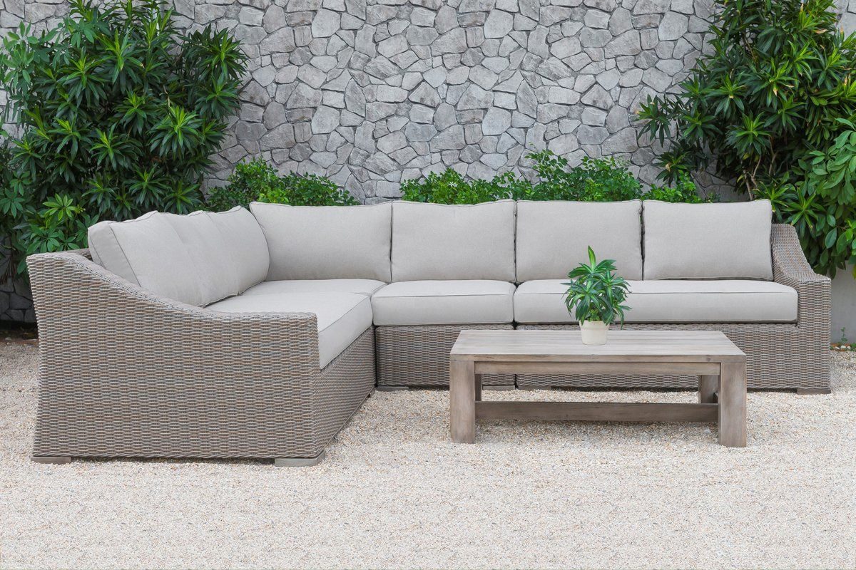 Sofa Rattan Vig Furniture Vgatrasf 126 Bge Renava Pacifica Outdoor Beige Sectional Sofa Set Poly Rattan Wicker Sale At Contemporary Furniture Warehouse Today