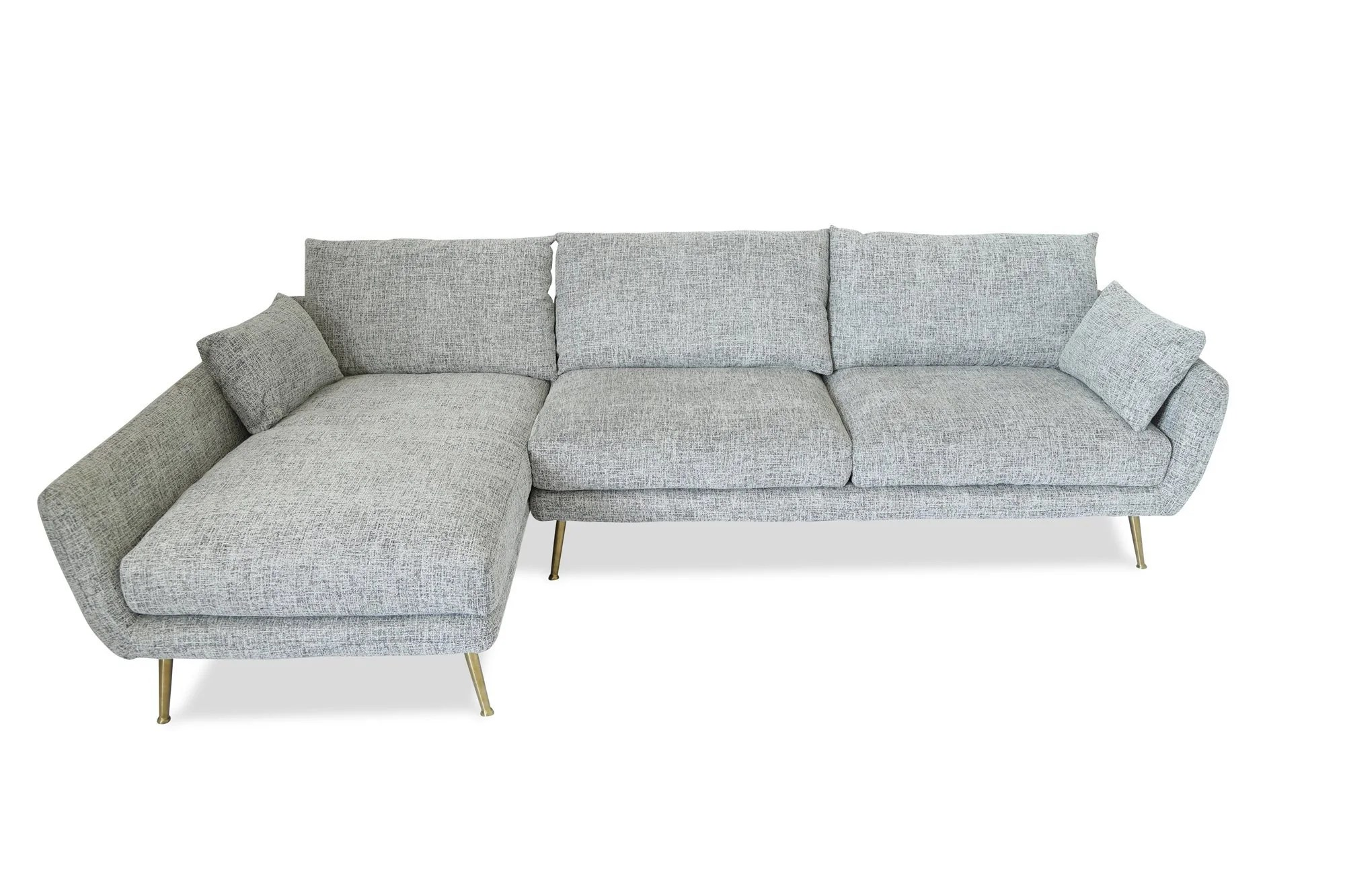 Sofa Modern Buy Edloe Finch Ef Zx Sc002l Harlow Mid Century Modern Sectional Sofa Fulton Grey Left Facing At Contemporary Furniture Warehouse