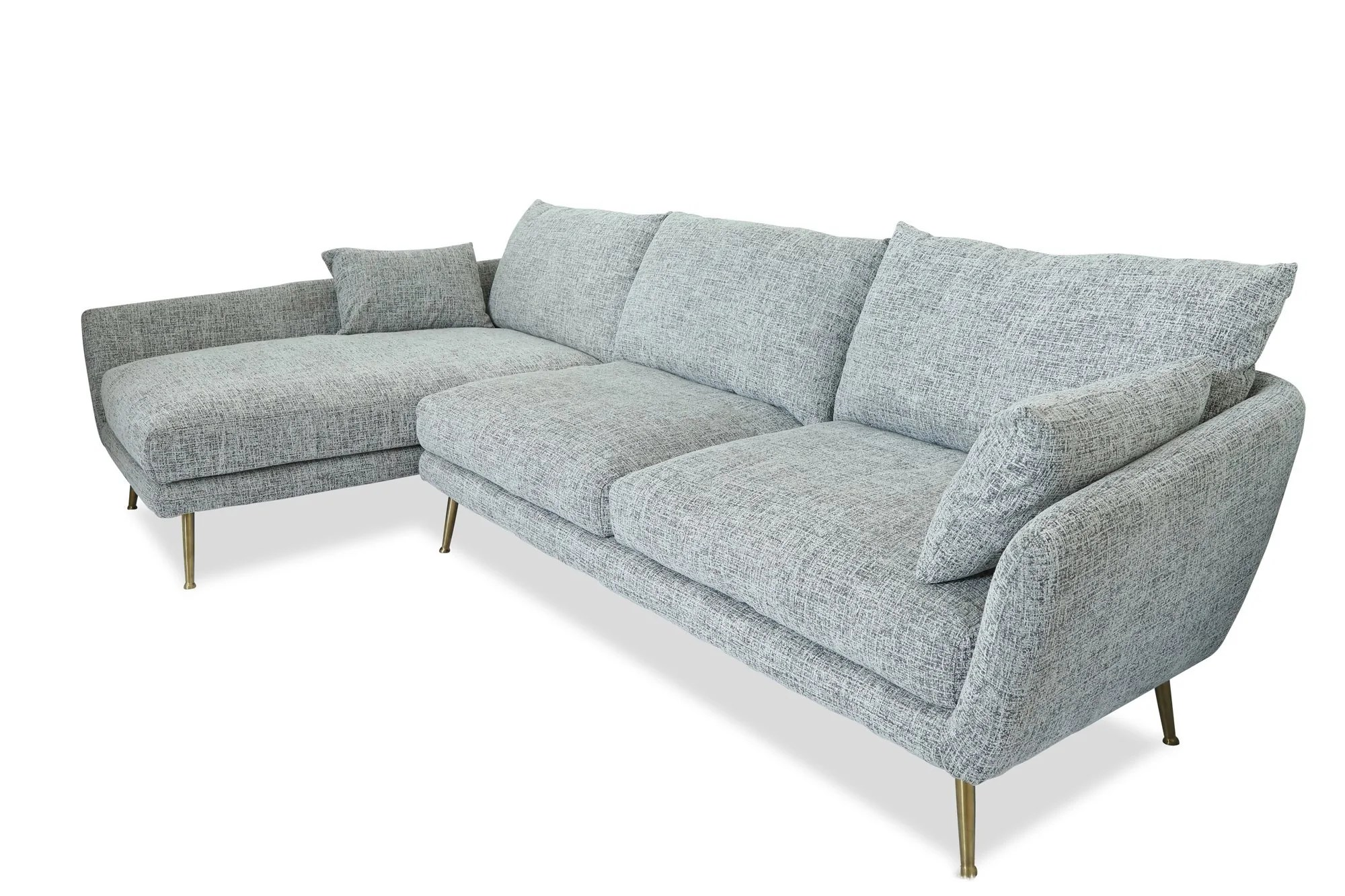 Modern Couch Buy Edloe Finch Ef Zx Sc002l Harlow Mid Century Modern Sectional Sofa Fulton Grey Left Facing At Contemporary Furniture Warehouse