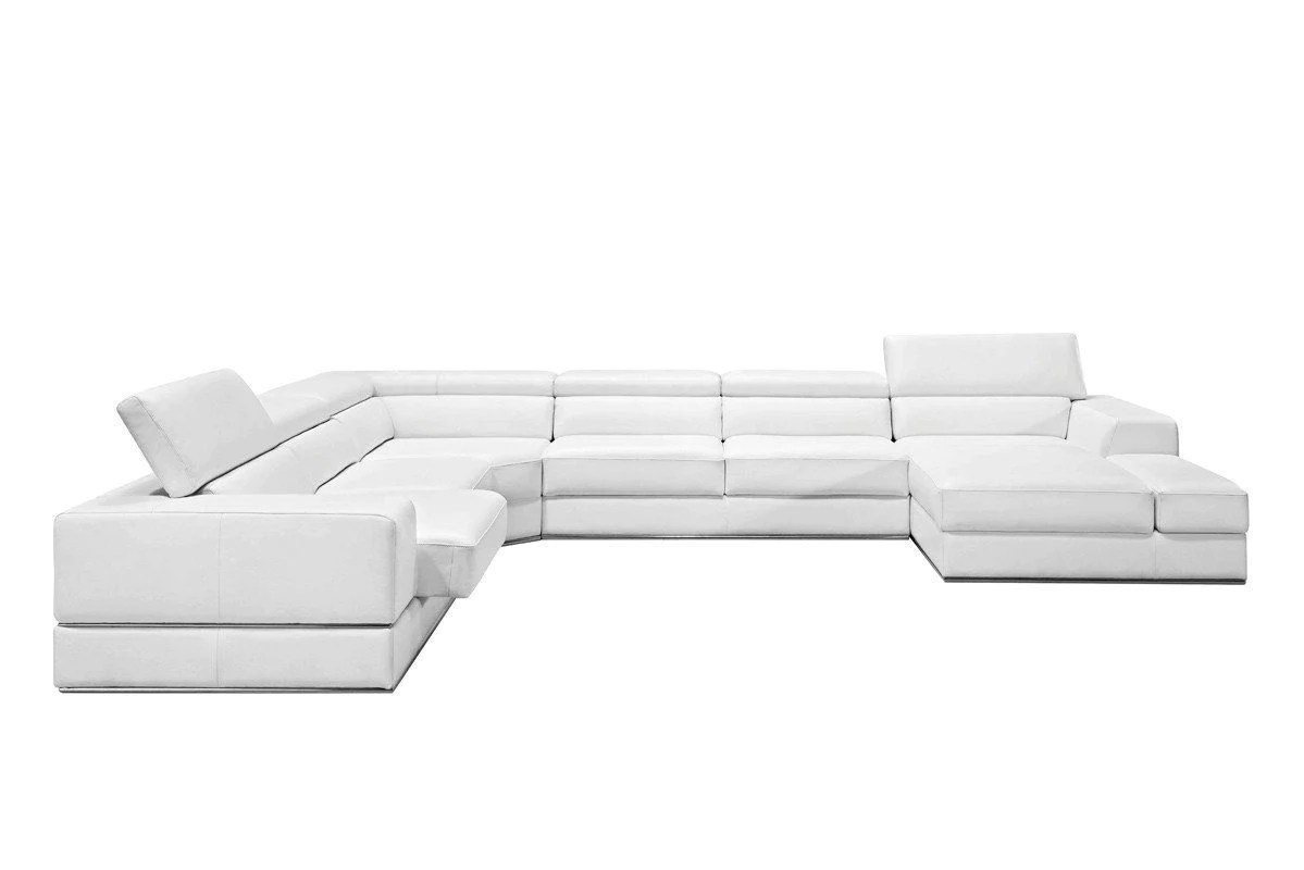 Divani Leather Sofa For Sale Vig Furniture Vgca5106 Bl Wht Divani Casa Pella Modern White Bonded Leather Sectional Sofa Sale At Contemporary Furniture Warehouse Today Only