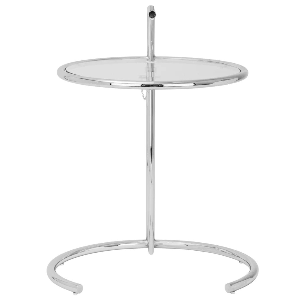 Eileen Gray Table Eileen Gray Side Table In Silver Set Of 2