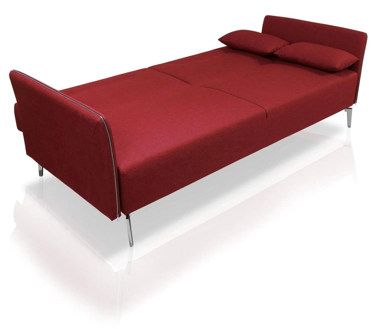Single Sofa Beds Vig Furniture Vgmb1365 Divani Casa Davenport Mid Century Modern Red Fabric Sofa Bed Sale At Contemporary Furniture Warehouse Today Only