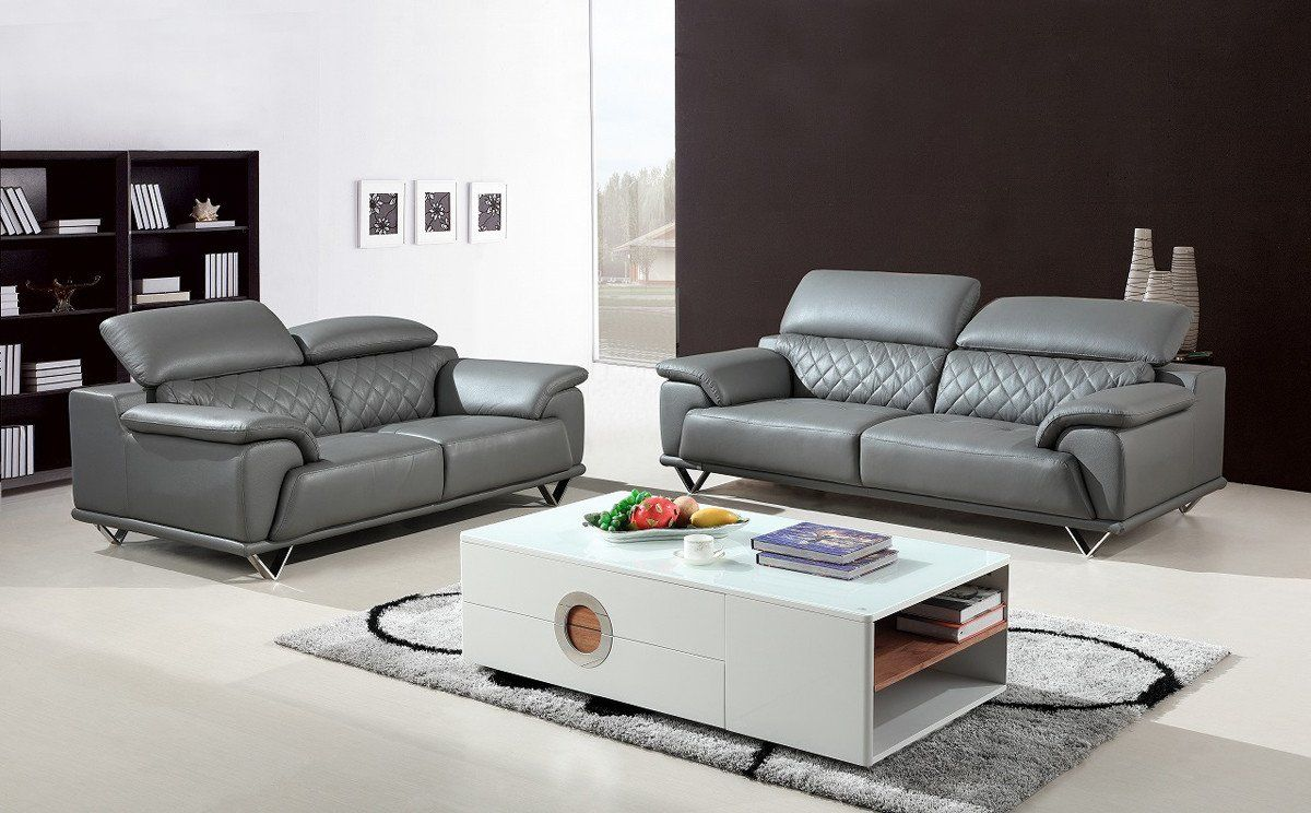 Divani Leather Sofa For Sale Vig Furniture Vgbnsbl 9210 Gry Divani Casa Wolford Modern Grey Leather Sofa Set Sale At Contemporary Furniture Warehouse Today Only