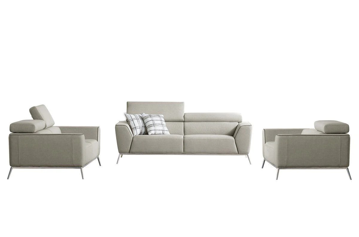 Divani Casa Encore Vig Furniture Divani Casa Velva Modern Beige Brown Fabric Sofa Set At Contemporary Furniture Warehouse
