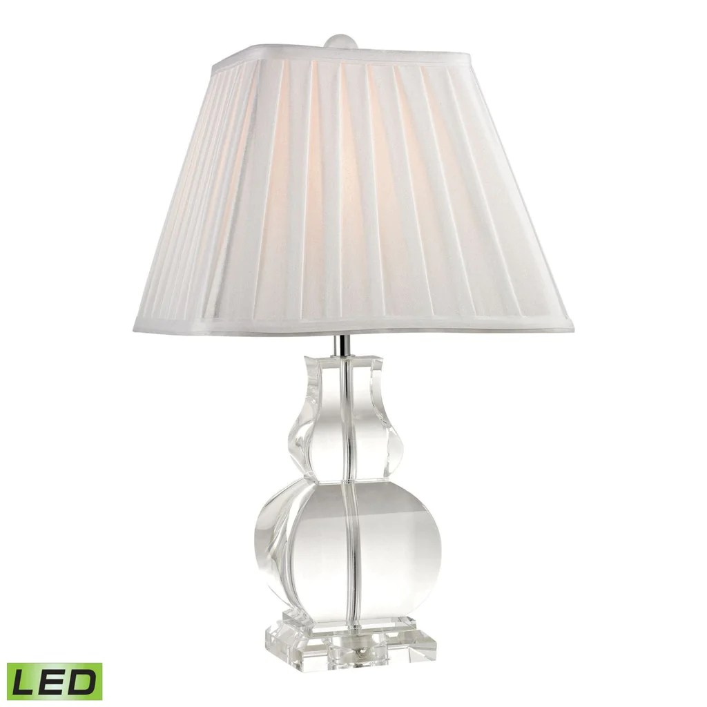 Crystal Lamp Downtown Solid Clear Crystal Led Table Lamp Clear