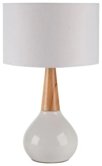Surya KTLP-001 Kent Contemporary Table Lamp White White