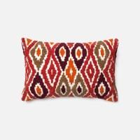 Loloi Rugs Loloi Red / Orange Decorative Throw Pillow ...