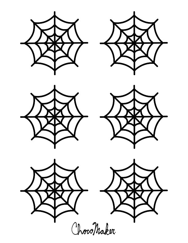 Spider Web Template For Cupcakes