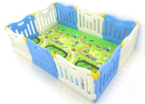Baby Playpen Panels Baby Care Funzone Playpen Sky Blue – Baby Play Mats