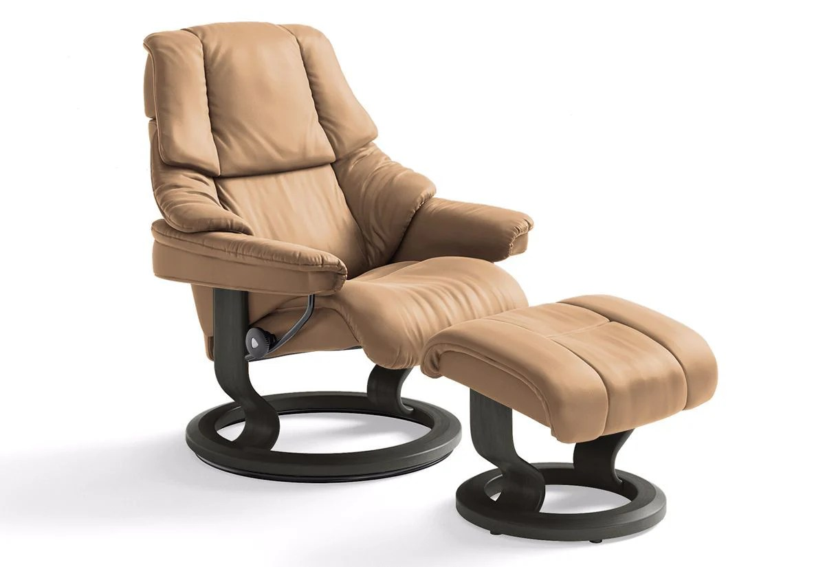Stressless Sale Reno Medium Classic Recliner And Ottoman Stressless By