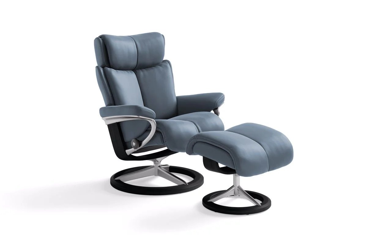 Ekornes Consul Large Magic Large Signature Recliner And Ottoman Stressless By