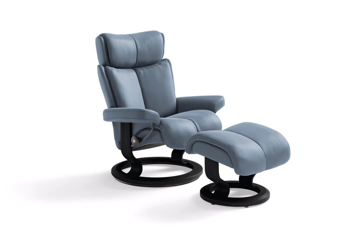 Stressless Amazon Magic Small Classic Recliner And Ottoman Stressless By