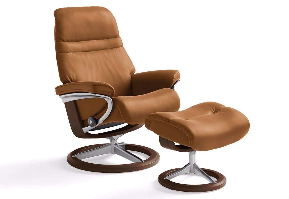 Stressless-world.com Sunrise Small Signature Recliner Ottoman Stressless By Ekornes