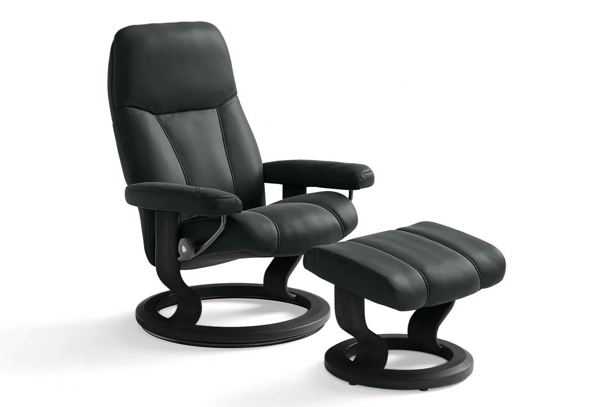 Stressless Consul L Consul Large Classic Recliner Ottoman Stressless By Ekornes
