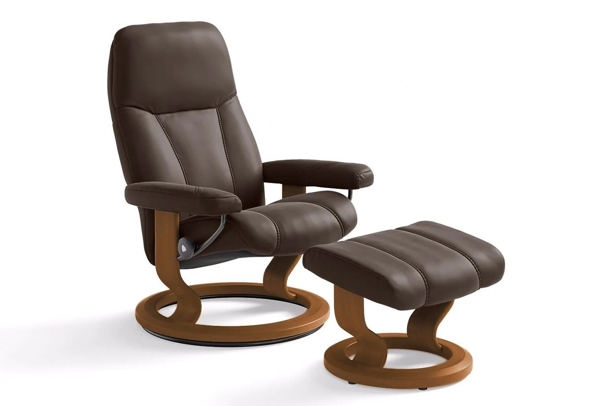 Stressless Amazon Consul Small Classic Recliner And Ottoman Stressless By