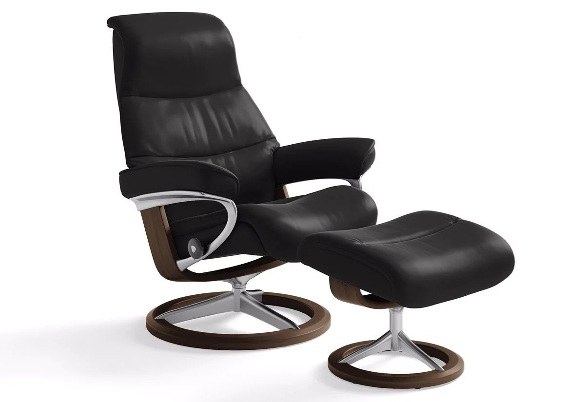 Ekornes Consul Large View Large Signature Recliner And Ottoman Stressless By