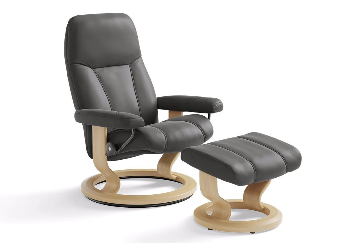 Ekornes Consul Large Consul Large Classic Recliner And Ottoman Stressless By