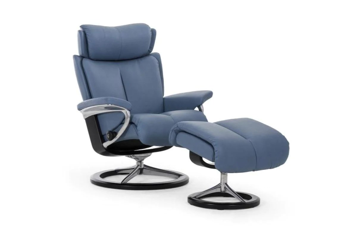 Stressless Recliners With Ottoman Magic Large Signature Recliner And Ottoman Stressless By
