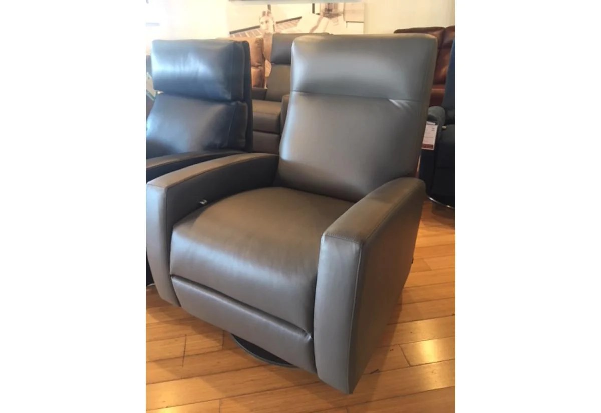 Best Rated Small Recliners Eva Comfort Recliner American Leather Version 7 Grade D Capri Shadow Small Floor Model