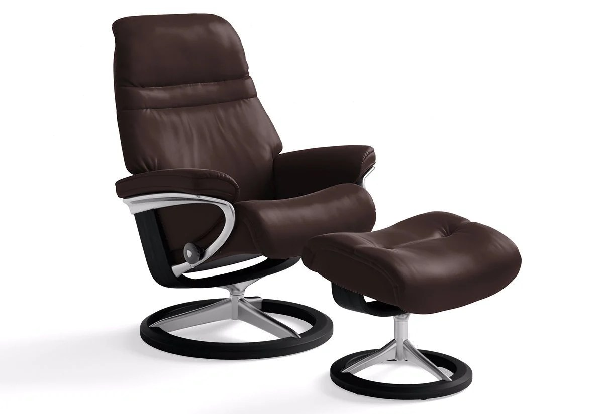 Stressless-world.com Sunrise Large Signature Recliner Ottoman Stressless By Ekornes