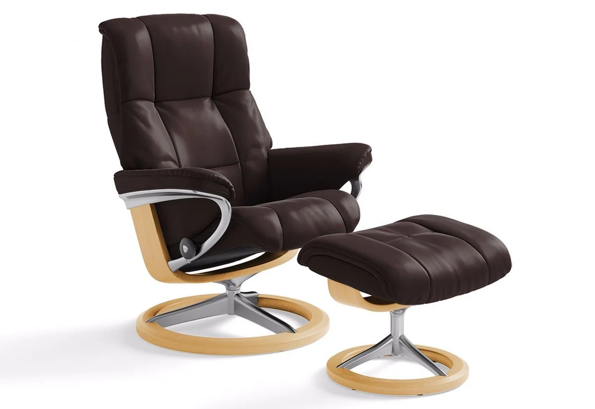 Stressless Recliners With Ottoman Mayfair Large Signature Recliner And Ottoman Stressless By