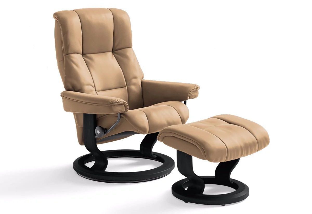 Stressless Amazon Mayfair Small Classic Recliner And Ottoman Stressless By