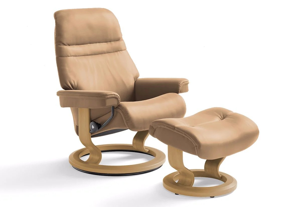 Stressless Recliners With Ottoman Sunrise Medium Classic Recliner And Ottoman Stressless By